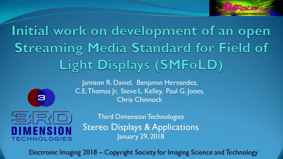SMFoLD presentation at Electronic Imaging 2018